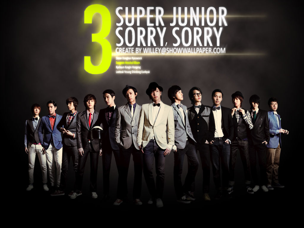 All Korean Group The Best 한국어 그룹 베스트 Super Junior Sorry Sorry